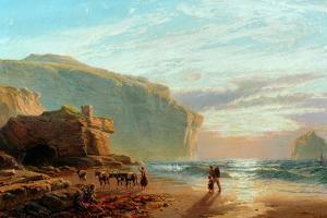 Off the Cornish Coast (Trebariwith Strand), 1877-78 by John Mogford