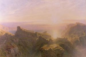 Sunset at Tintagel, 1871 by John Mogford