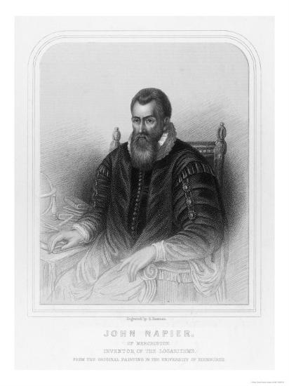 John Napier Scottish Mathematician Inventor of Logarithms--Giclee Print
