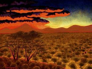 African Sunset by John Newcomb
