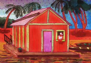 Amazon River Houseboat by John Newcomb