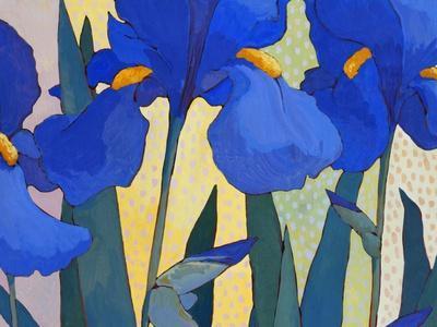 Faceted Irises
