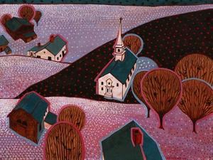 New England Farm by John Newcomb