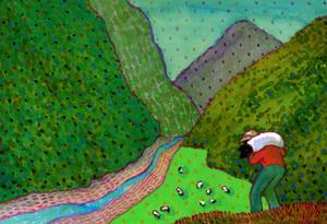 New Zealand Shepherd by John Newcomb