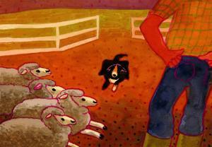 Sheep Dog Trial by John Newcomb