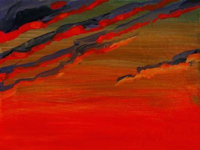 Sky Portrait of a Sunset by John Newcomb