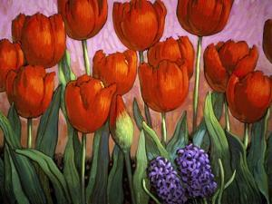 Small Tulips and Hyacinths by John Newcomb