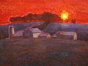 Snowy Farm by John Newcomb