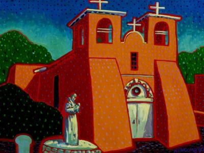 Spanish Mission by John Newcomb