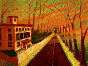 Spring on North Street (Greenwich, CT) by John Newcomb