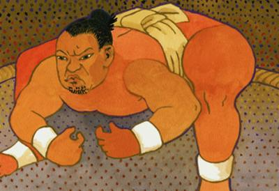 Sumo Wrestler by John Newcomb