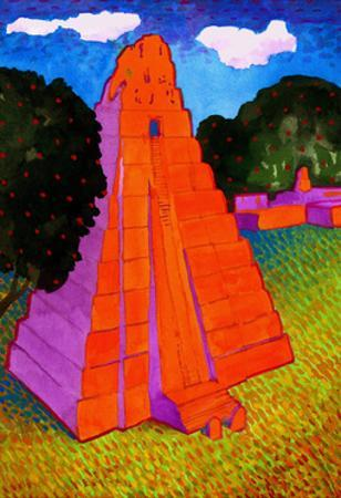 Temple of the Jaguar (Tikal) by John Newcomb