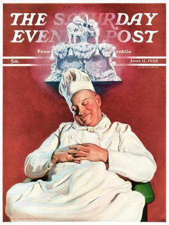 """Cake Dream,"" Saturday Evening Post Cover, June 11, 1938"