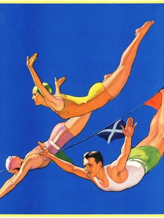 """""""Diving Women and Man,""""August 1, 1932"""
