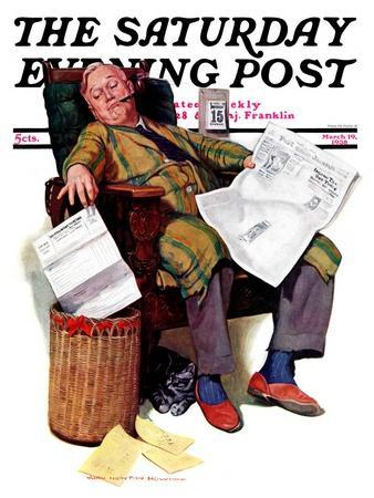 """Tax Deadline,"" Saturday Evening Post Cover, March 19, 1938"
