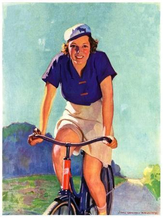 """""""Woman on a Bike,""""April 28, 1934"""