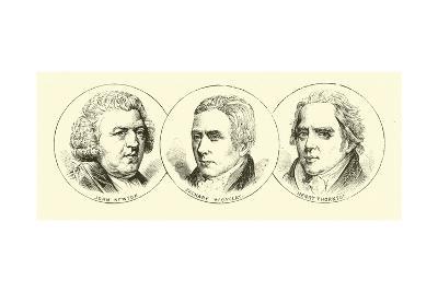 John Newton; Zachary Macaulay; Henry Thornton--Giclee Print