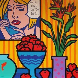 Homage to Lichtenstein and Wesselman by John Nolan