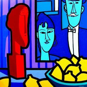 Homage to Modigliani 2 by John Nolan