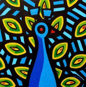 Peacock 1 by John Nolan