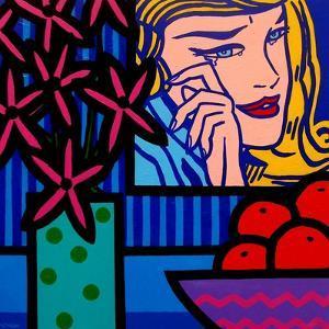 Still Life with Lichtenstein Crying Girl by John Nolan