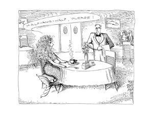 "A mermaid asks a waiter for ""Half-and-half, please!"" - New Yorker Cartoon by John O'brien"