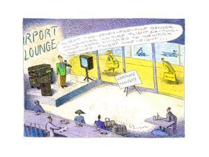 Airport lounge singer - Cartoon by John O'brien