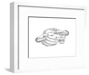 Baseball Glove and hotdog - Cartoon by John O'brien
