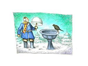 Birdbath - Cartoon by John O'brien