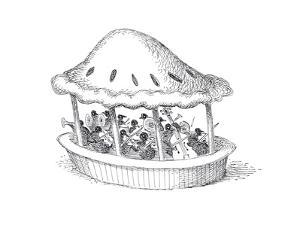 Birds in pie. - Cartoon by John O'brien