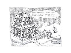 Candy house being sold. - Cartoon by John O'brien