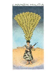 Carmen Militia - New Yorker Cartoon by John O'brien