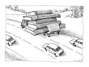 Caution Oversized Books - New Yorker Cartoon by John O'brien