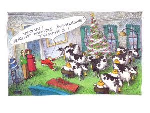 Christmas Gifts - Cartoon by John O'brien
