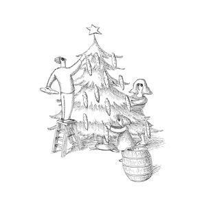 Christmas Tree - Cartoon by John O'brien