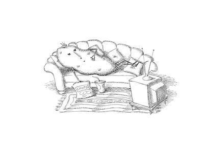 Couch Potato - Cartoon