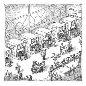 Drinking and driving arcade. - New Yorker Cartoon by John O'brien