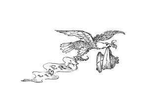 Eagle and Liberty Bell - Cartoon by John O'brien