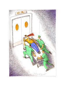 Emergency room patient - Cartoon by John O'brien