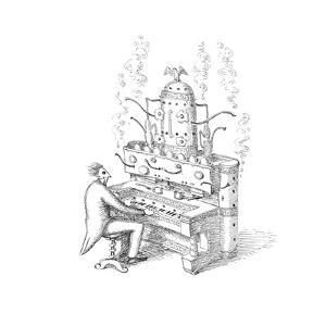 Espresso Organ - Cartoon by John O'brien