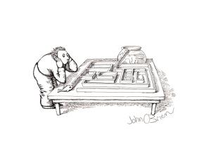 Fish maze - Cartoon by John O'brien