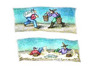 Flour and Water - Cartoon by John O'brien