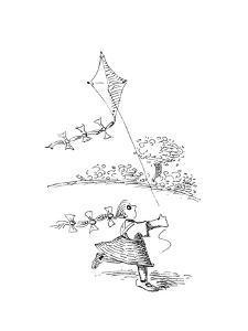 Flying Kite - Cartoon by John O'brien