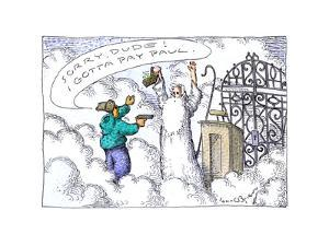 Gate of Heaven - Cartoon by John O'brien