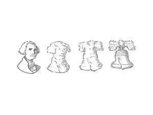 George Washington Liberty Bell - Cartoon by John O'brien