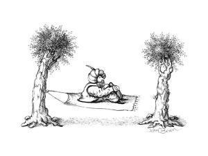 Hammock / Magic carpet - Cartoon by John O'brien