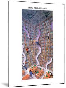 INFORMATION PATHWAYS. - New Yorker Cartoon by John O'brien