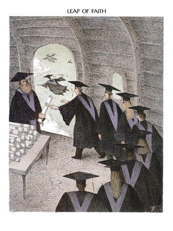Leap of Faith - New Yorker Cartoon
