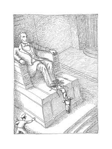 Lincolns shoelaces - Cartoon by John O'brien