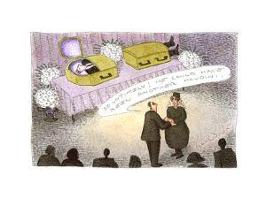 Magician's funeral - Cartoon by John O'brien